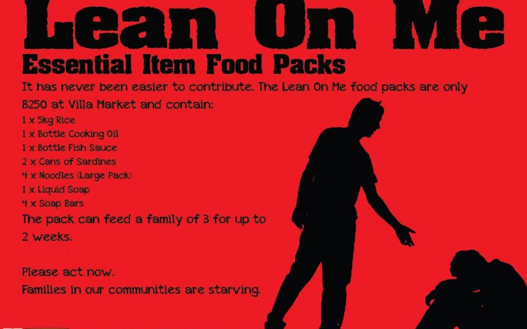 Lean on Me Food Donation Program