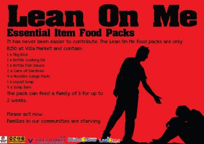 Lean on Me Food Donation Program